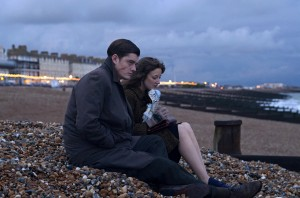 Sam Riley as Pinkie and Andrea Riseborough as Rose in BRIGHTON ROCK, directed by Rowan Joffe. Photo by Alex Bailey